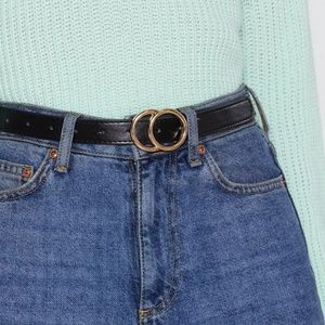 NWT Nasty Gal Circle Faux Leather Belt